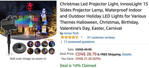 cyber monday christmas light deals amazon canada cyber monday sale save 42 on innoo tech