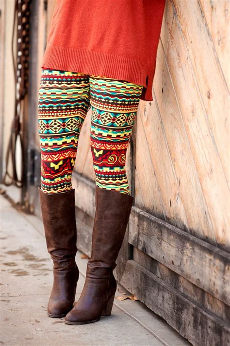 aztec pattern leggings outfit aztec yellow red and green leggings agnes dora boutique