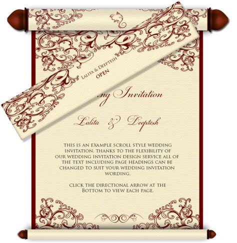 email wedding card templates box email wedding card with mini scroll inserts templates