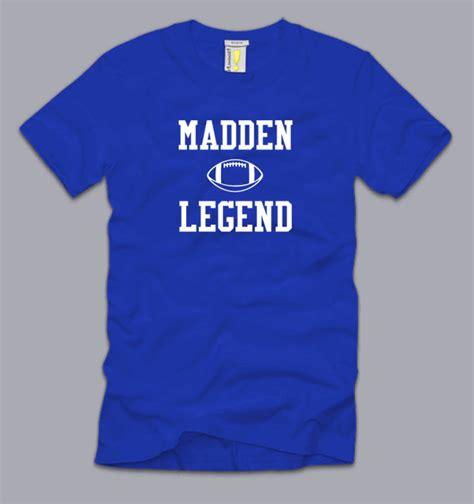nfl fan club tee madden legend medium t shirt funny nfl football fan cool