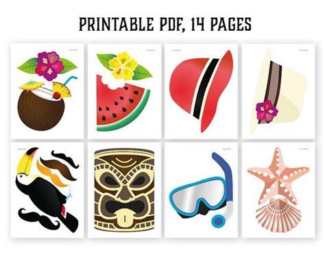 printable luau photo booth props hawaiian photo booth props printable pdf luau photo