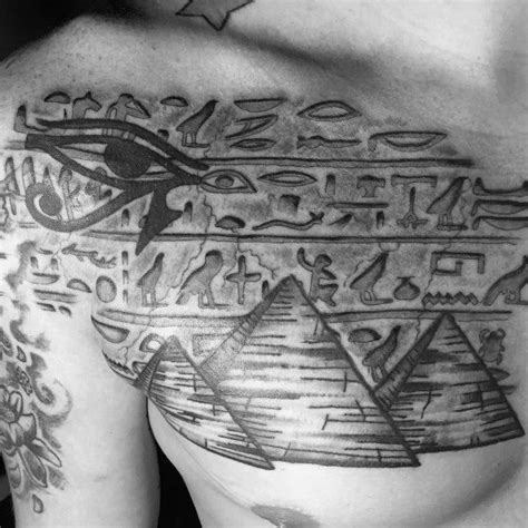 egyptian chest tattoos 30 hieroglyphics designs for ancient