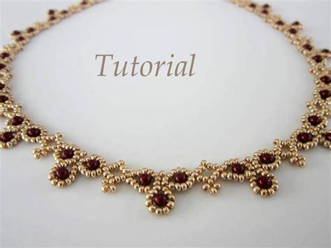 beaded necklace tutorial pdf tutorial necklace leuviah seed swarovsky pearls