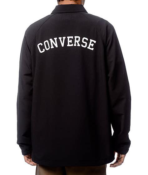 Jaket Converse Black converse perforated black coaches jacket at zumiez pdp