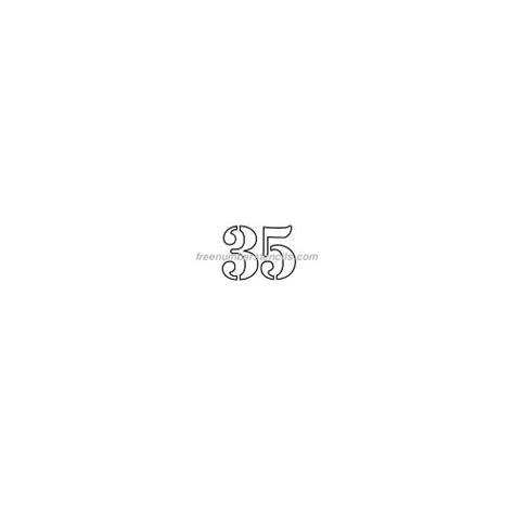 printable numbers 1 35 free 1 inch 35 number stencil freenumberstencils com
