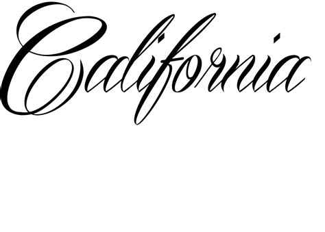California Style Lettering