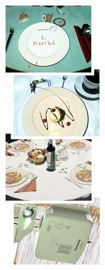 le petit chef cuisine le petit chef brings visual mapping to the restaurant
