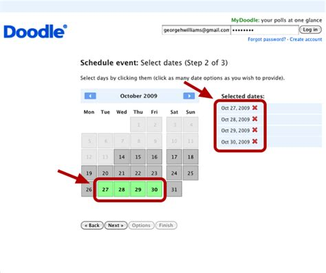 doodle schedule event find a meeting time with doodle
