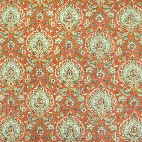 upholstery fabric orlando canyon orange floral prints upholstery fabric