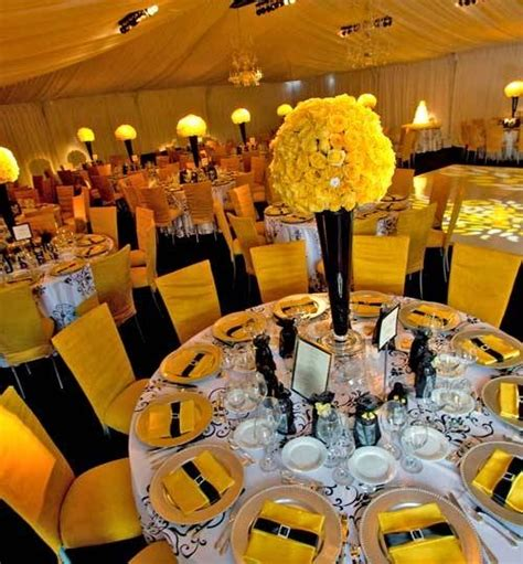 Yellow Black And White Wedding Decorations black and yellow wedding reference for wedding decoration