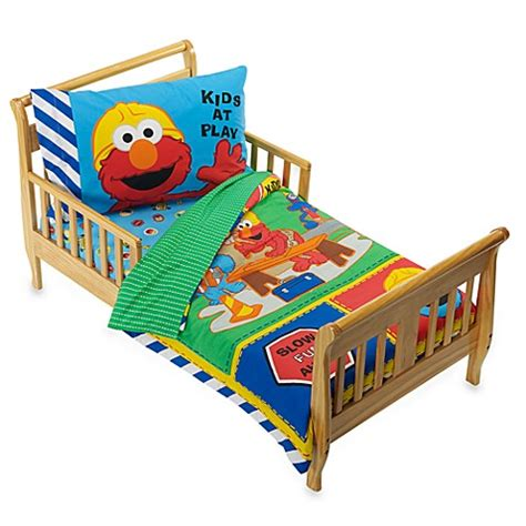 construction toddler bedding sesame street construction 4 piece toddler bedding set