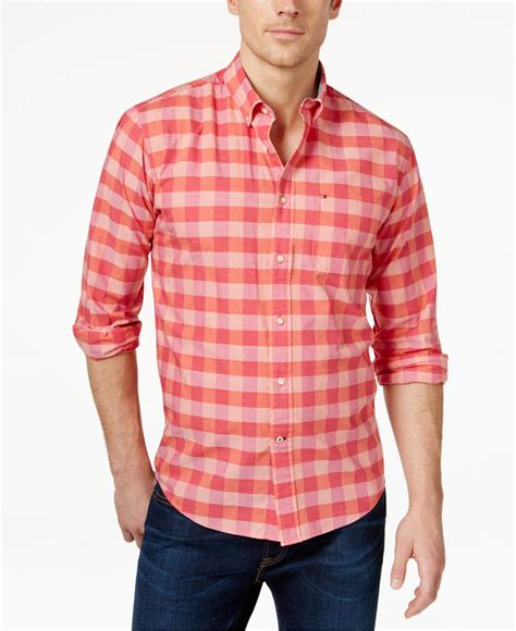 Checked Shirt pink check shirt mens artee shirt