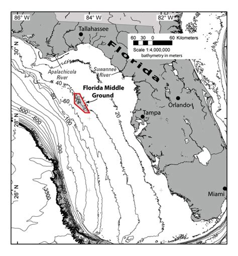 40 Square Meters In Feet by New Geologic Explanation For The Florida Middle Ground In