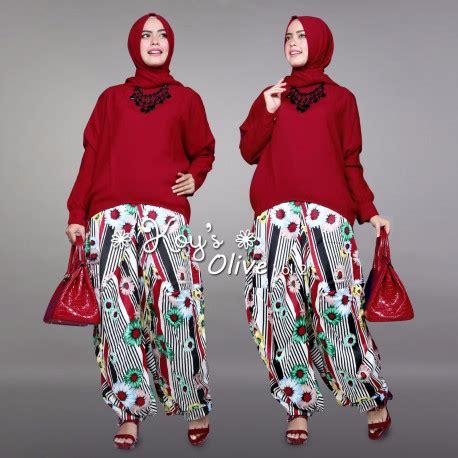 Alby Set Setelan Fashion Muslimah Mocca Hitam olive baju muslim gamis modern