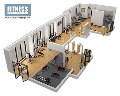 3d Walkthrough 3d gym design amp 3d fitness layout portfolio fitness tech