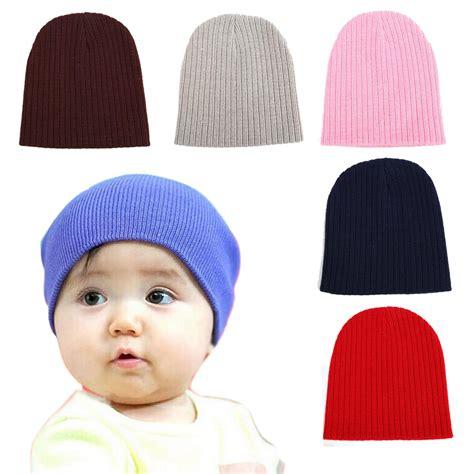 Topi Baby Bahan Rajut topi kupluk bayi polos baby hats unisex newborn 4y