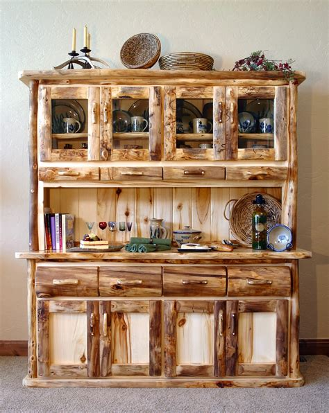 Large Buffet And Hutch aspen heirloom large buffet and hutch half log or flat