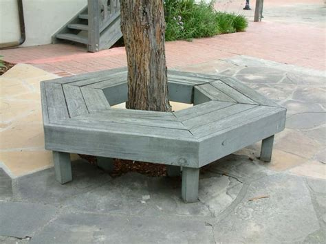 tree bench grey hexagonal tree bench decoist