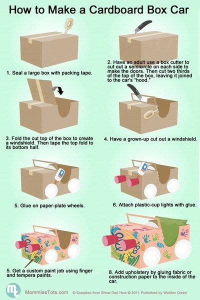 How To Make A 3d Car Out Of Paper - 25 best ideas about cardboard box cars on