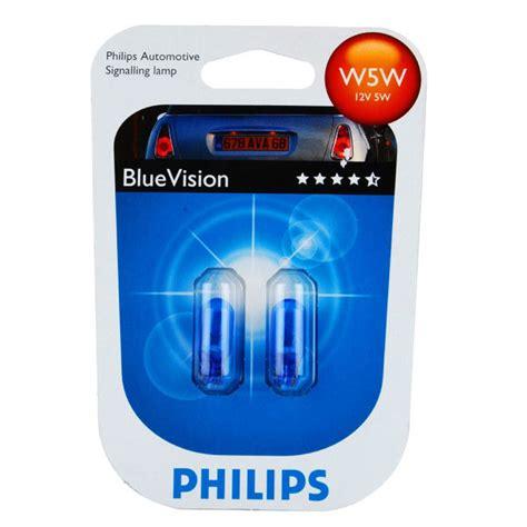 Lu Philips Blue Vision philips blue vision w5w bulbs box car parts