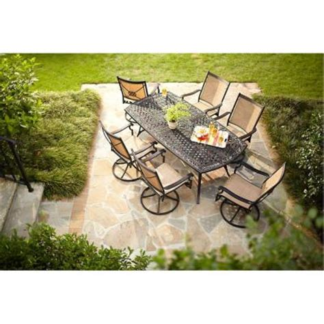 martha stewart 7 patio dining set martha stewart living solana bay 7 patio dining set