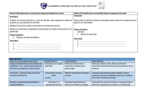 programacin anual con rutas de aprendizaje 2016 programacion anual de quechua con rutas de aprendizaje 2016