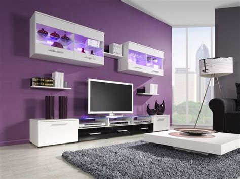 this lavender color on my entertainment center wall with light grey walls for the rest of the