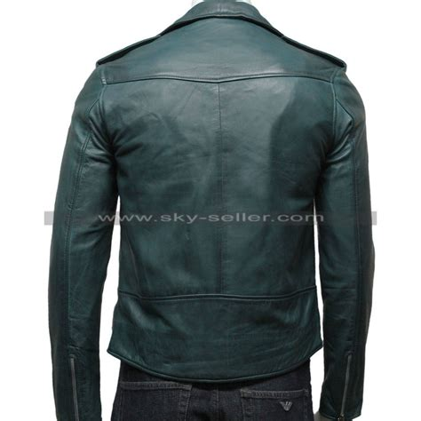 green motorcycle jacket men s green vintage belted motorcycle leather jacket