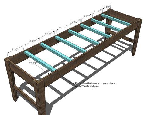 easy farmhouse table plans 50 inspired farmhouse table plans ana white