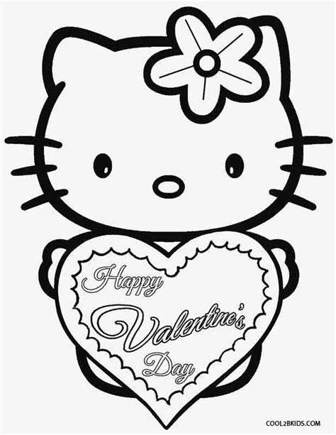 hello kitty coloring pages for valentines day printable valentine coloring pages for kids cool2bkids