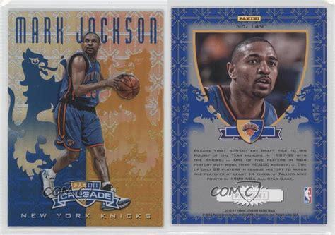 mark jackson rookie card 2012 13 panini crusade blue 149 mark jackson new york