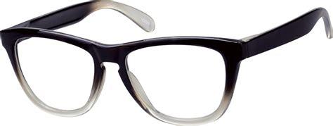 brown ombre square eyeglasses sunglasses 1237 zenni