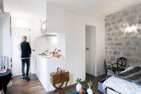 cozy  square foot studio flat  paris idesignarch