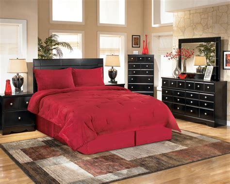 ashley shay black modern queen bedroom set houston  ebay