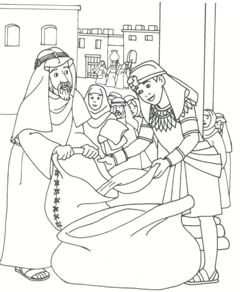 coloring pages joseph and his brothers free coloring pages of joseph his coat