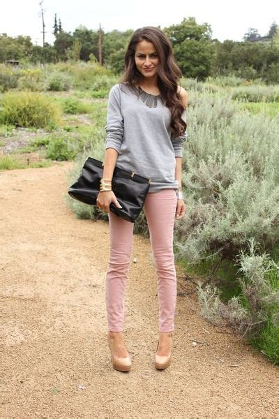 what to wear with light pink pants i think i might wear light pink well designed skinnys