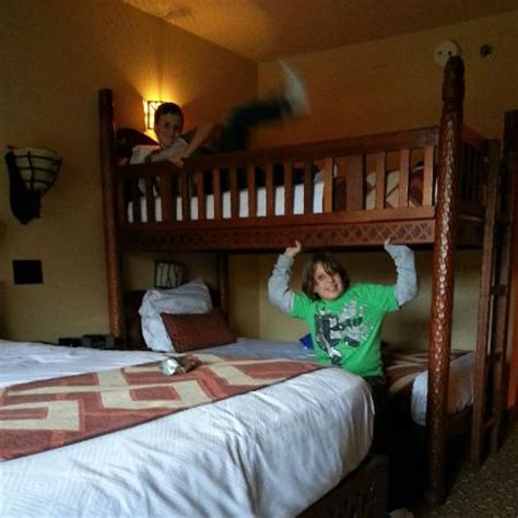 Orlando Bunk Beds Bunk Beds In Room Picture Of Disney S Animal Kingdom Lodge Orlando Tripadvisor
