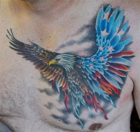 eagle with american flag tattoo designs eagle american flag combo by diego tattoonow