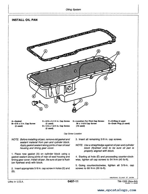 John Deere 790 792 Excavator Repair Operation Tests Tm1320