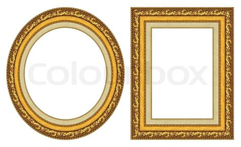 framing a picture gold picture frames stock photo colourbox