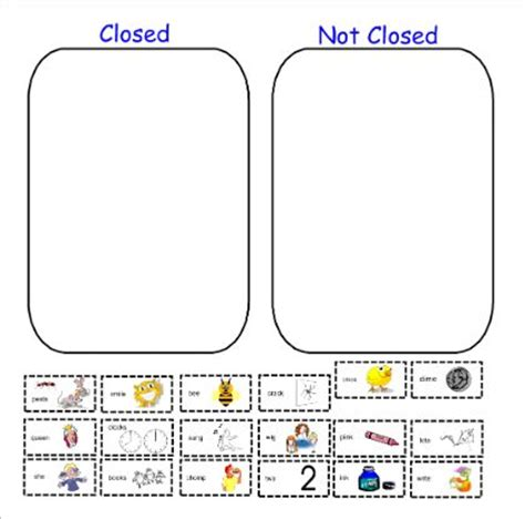 smartboard pattern activities for kindergarten open closed syllable sort ela smartboard pinterest
