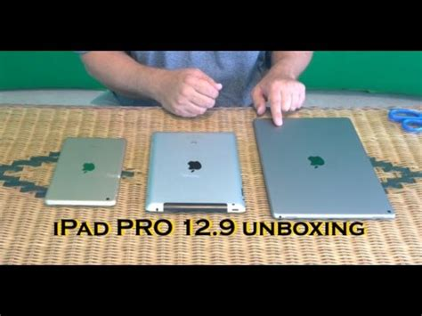 apple ipad pro  unboxing size comparisons youtube
