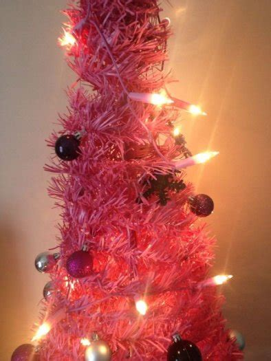 pink tree lights pop up pink tree with lights and decorations for