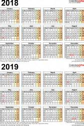 two year calendar template two year calendars for 2018 2019 uk for pdf