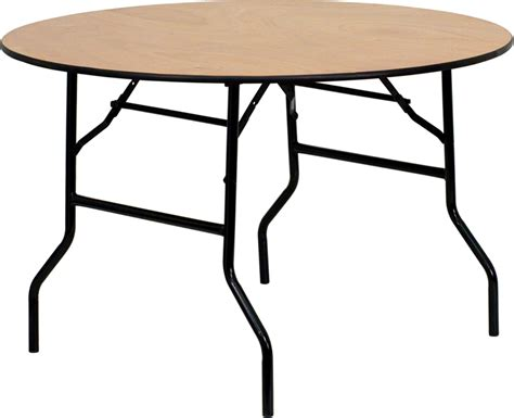 wood top folding table 48 quot wood folding banquet table with clear coated
