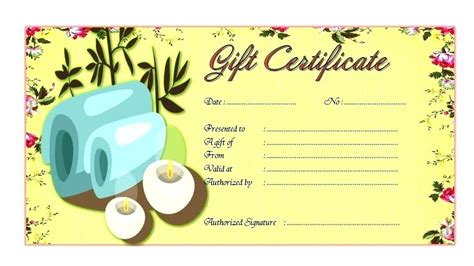 Manicure Gift Certificate Templates Gift Certificate Templates Spa Gift Certificate Template Word