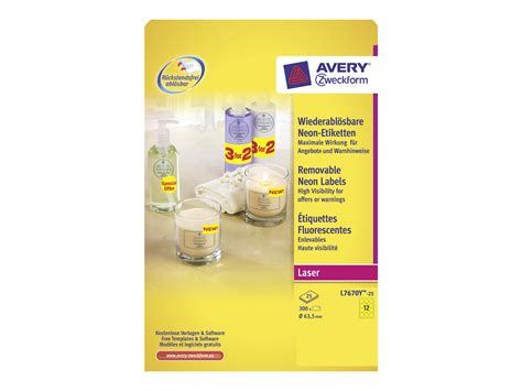 Etiketten Rund 63 Mm by Avery Zweckform L6008 20 Typenschild Etiketten 25 4mm X