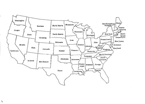 us map of states worksheet blank united states map worksheet davezan