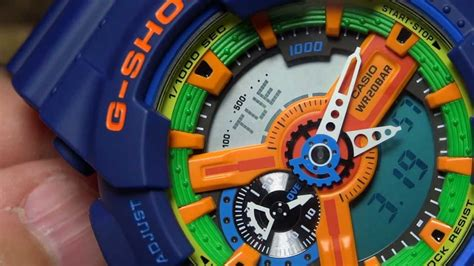 G Shock Ga 400 Orange Blue casio g shock review and unboxing ga 110fc 2a blue orange green