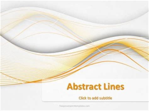 theme line yellow free free powerpoint templates